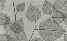 Dekors LUSSI LIGHT GREY INSERTO LEAF A  25x40 cm