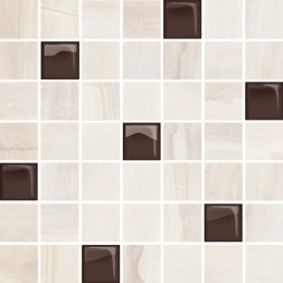 Mozaika SIMPLE STONE Beige Glass   25x24.86 cm